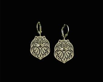 Pomeranian earrings - gold
