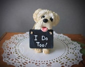 Dog Cake Toppers - Made To Look Like Your Pet - With Optional Chalkboard Sign