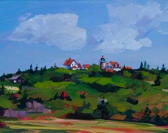 Maine Landscape Plein Air Monhegan Island