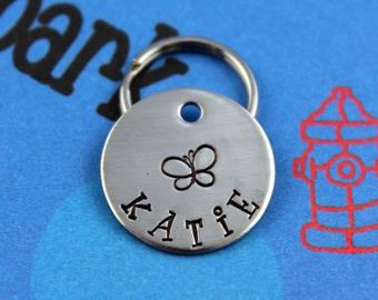 SMALL Dog or Cat Tag - Nickel Silver Customized Pet Tag - Small Dog Name Tag - Other Metals Available