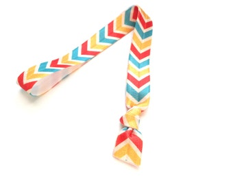 1 Indian Summer Chevron Print Handmade Elastic Headband
