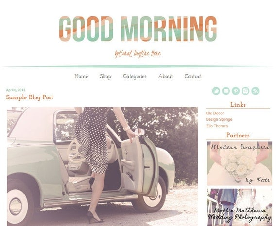 Premium Blogger template from Ello Themes.