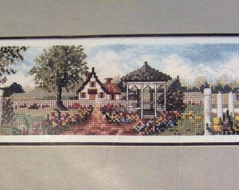 Vintage Cross Stitch Kit - Janlynn - Cottage and Gazebo