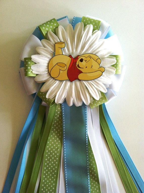 Winnie The Pooh Inspired Baby Shower Corsage By