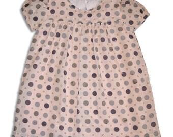 Girl Dress Spotty Print Dress Children's Clothing Toddler Summer Dress