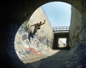 80s Skate Photo - Mark Gator Rogowski Baldy Pipe Eighties Skateboarding Photograph 18 x 24 Inch Print