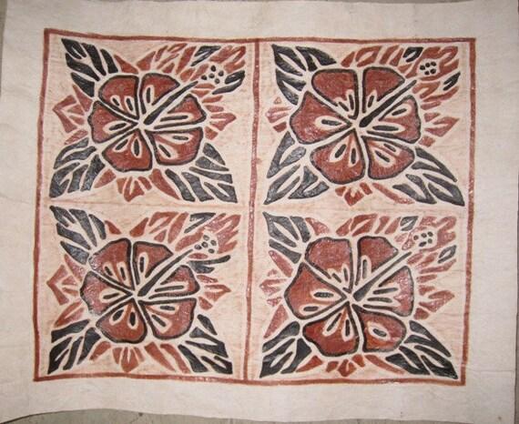 Items Similar To Handmade Polynesian Tapa Cloth Barkcloth