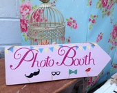 Handmade Wooden Shabby Chic Photo Booth Wedding Sign Plaque