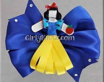 Snow White Hair Bow Snow White Ribbon Sculpture Hair Clip Princess Hair Bow Snow White Hair Clip