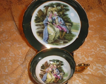 Regency Courting Couple tea cup
