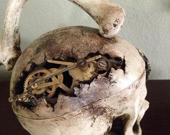Steampunk Skull Purse