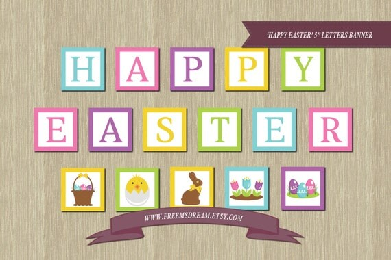 """... 5x5 Football Squares Happy easter banner - printable 5x5"""" squares"""