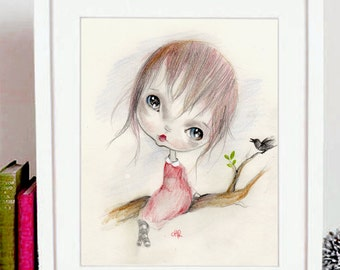 "original painting....mixed media on fine art heavy paper..""LELISA"""