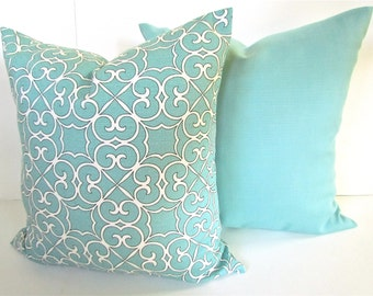 mint pillow set of 2 16x16 decorative throw pillows cover 16 x 16 mint green pillow covers. Black Bedroom Furniture Sets. Home Design Ideas