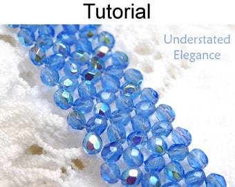 Beading Tutorial Pattern Bracelet - Right Angle Weave RAW - Simple Bead Patterns - Understated Elegance #1124