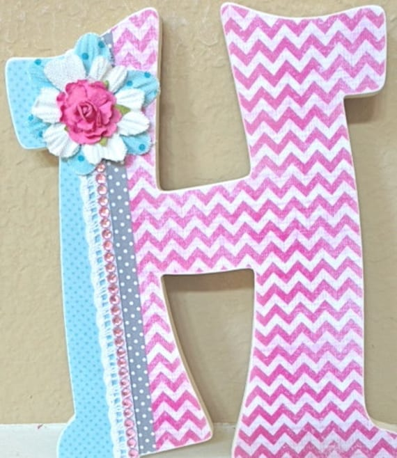 Decorative wall letters nursery letters by theruggedpearl - Decorative wooden letters for walls ...