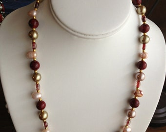 Pink Freshwater Pearl Necklace.