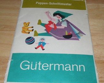 German Puppen-Schnittmuster Doll Clothing Patterns