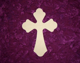 "Unfinished Wood Cross Wooden Crosses 15"" Inch Tall Crafts  Part MC15-119"