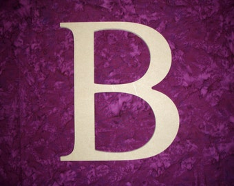 "Greek Letter B Beta Symbol Unfinished Wooden Letters 6"" Inch Tall Paintable"