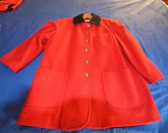 ON SALE   Woman's Red Wool Jacket by Anne Klein Size 8