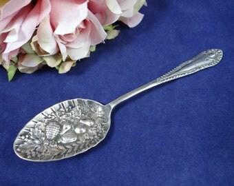 Vintage Potter Fruit Embossed Spoon - Lovely