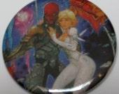 "Red Hood Jason Todd Robin II Batman Comic Button DC Comics 2-1/4"" Button"