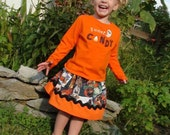CLEARANCE -  Halloween Skirt size 3T - Perfect for your little spook!