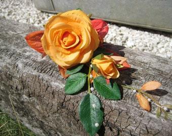 Orange Rose Flower Corsage. Wedding, Prom or Anniversary.