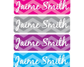 Waterproof Kids Labels, Great for daycare, preschool, school, camp and more - 4 Pre-made Designs