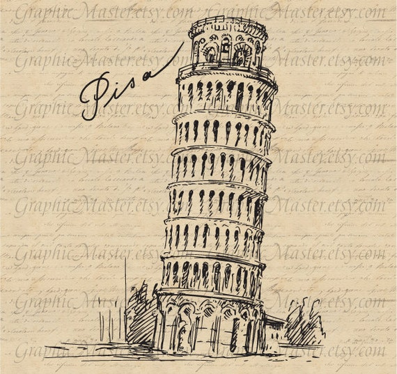 Leaning Tower of Pisa Italy Traveling Graphics Digital Image Download ...