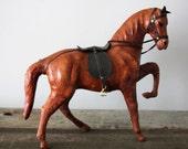 Vintage Leather Horse Figure