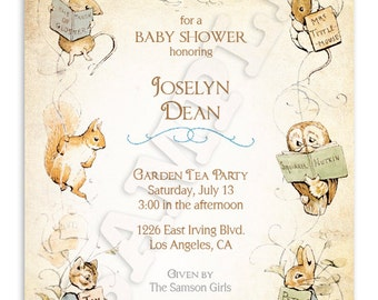Beatrix Potter Baby Shower Invitation