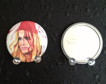 Raja Gemini original art pocket mirror
