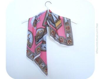 Pink vintage scarf, pink