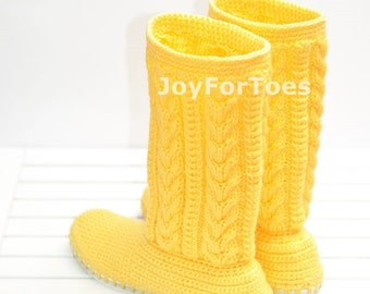 Crochet Boots, Knitted Shoes, Outdoor Boots, Spring Fashion, Womem Fashion, Yellow, Tenderness, Gift Ideas