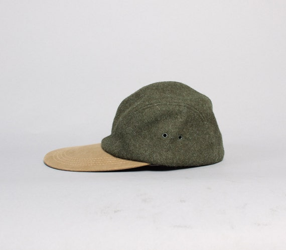 80s Filson Hunting Hat Green Wool Baseball Style Cap L