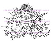 A digital stamp/image instant download.... Little Moppett!