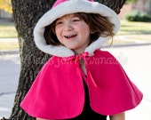 Everyday Princess Hooded Cape Caplet Capelet PDF Pattern instant download Sizes 1/2- 9/10