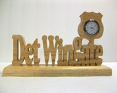 Personalized Detective Desk Clock