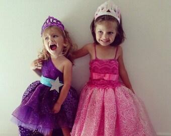Barbie Princess and Popstar Dresses (set of 2 Outfits)