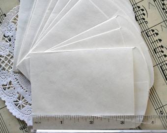 25 Mini Sacks, Mini Paper Bags in White