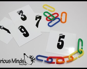 Number Links Busy Bags