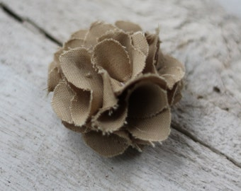 "2"" Shabby Flower With Snap Clip (Tan Pictured)"