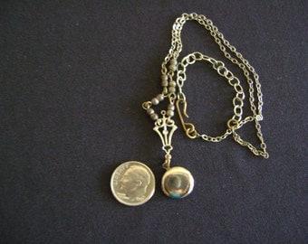 Vintage Silver tone Locket Necklace