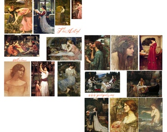 The Art Of Waterhouse Digital Collage Set