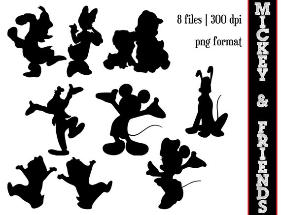Mickey Mouse and Friends Silhouettes // Minnie Mouse Silhouette ...