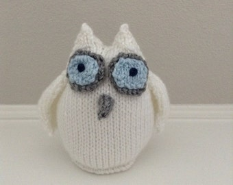 Knitted Owl Stuffed Toy - Owl Toy - Stuffed Animal - Knitted Toy - Stocking Stuffer