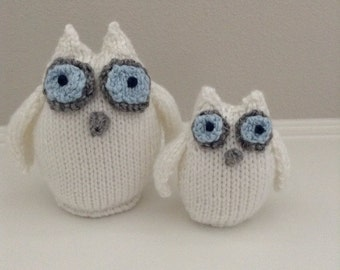 Owl Stuffed Toys - Soft Toys - Stuffed Animals - Knitted Owls