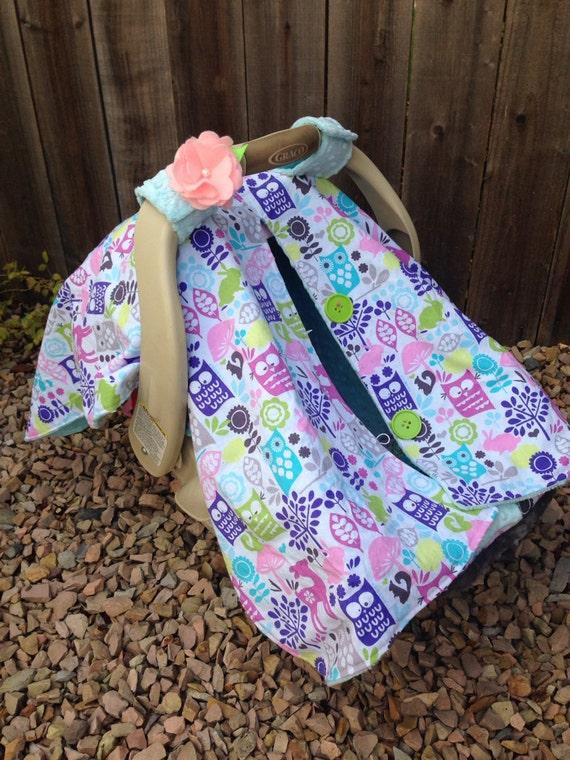 owl infant car seat tent privacy blanket nursing cover. Black Bedroom Furniture Sets. Home Design Ideas